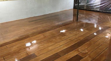 Concrete Wood Floor