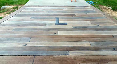 Wood Stamped Concrete Corona Riverside