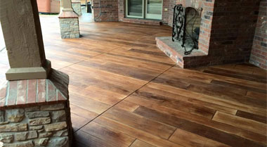 Wood Stamped Concrete Corona